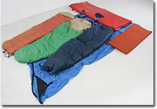 Items used for hypothermia wrap are laid out.