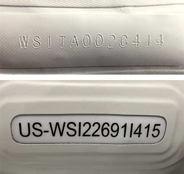How to Identify Your Boat: Examples of HINs or serial numbers on NRS inflatables.