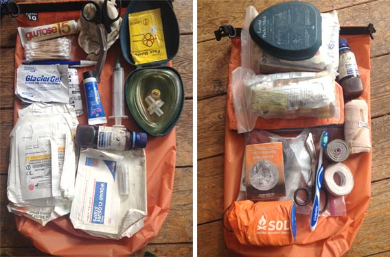 "First Aid on the Water: The contents of Kyle ""Smitty"" Smith' kit"