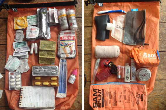 """First Aid on the Water: The contents of Kyle """"Smitty"""" Smith' kit"""