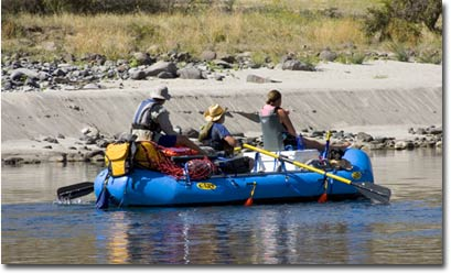 An  NRS crew on a lazy section of Idaho's Salmon River.