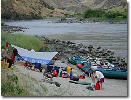 Camp in Hells Canyon