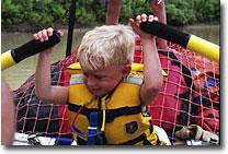 Nicholas reefing on the oars.