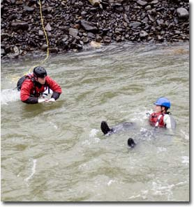 Rescue Training on the Potlatch River, ID